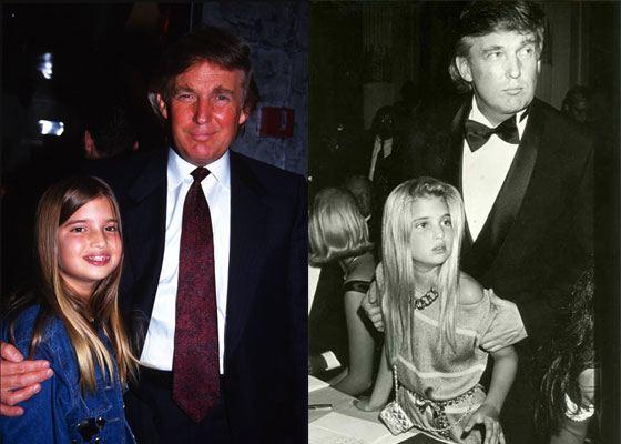 Иванка Трамп в детстве с отцом