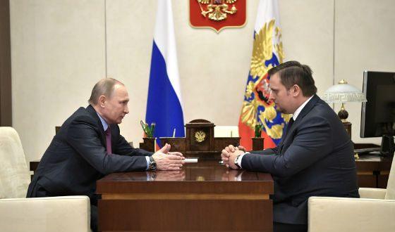 Встреча Владимира Путина с Андреем Никитиным (2017 год)