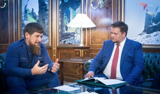 Глава АСИ Андрей Никитин на встрече с Рамзаном Кадыровым