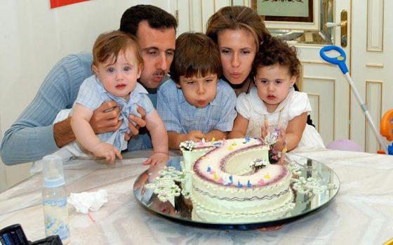 Башар Асад с женой и детьми