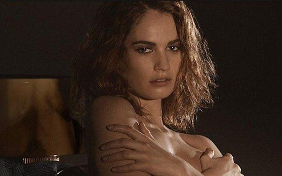 Лили Джеймс снялась обнаженной в рекламе духов