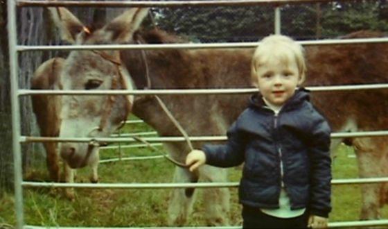 Саймон Пегг в детстве