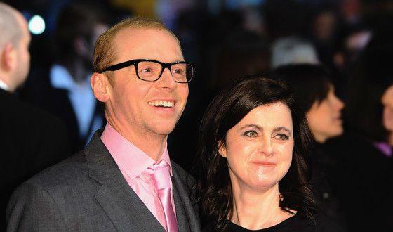 Саймон Пегг с женой