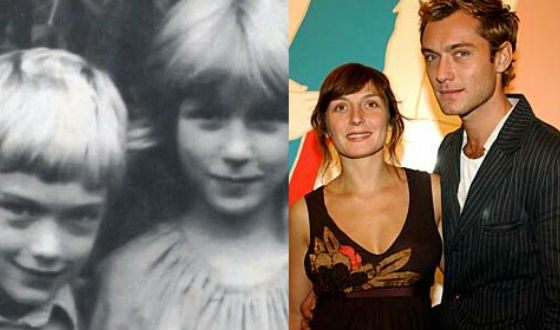 Джуд Лоу с сестрой Наташей