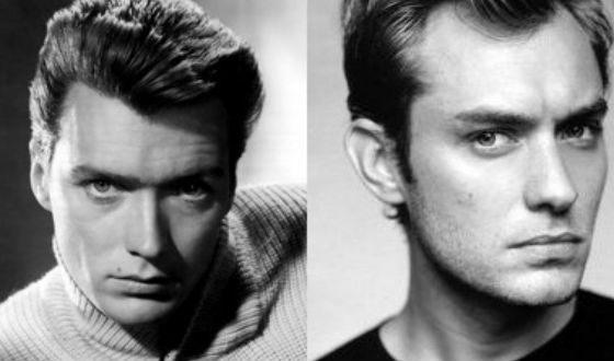 Джуд Лоу похож на молодого Клинта Иствуда (слева)