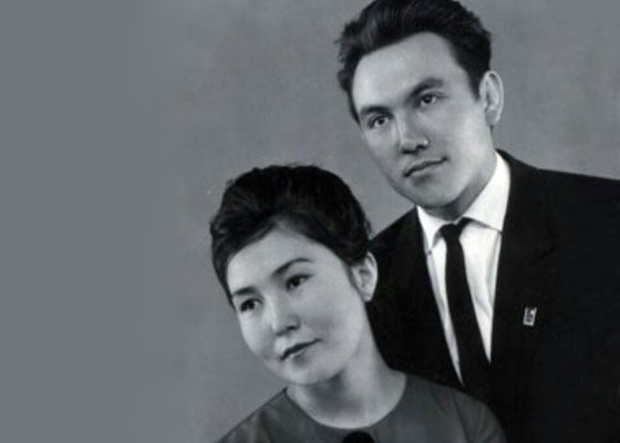 Нурсултан Назарбаев и его жена Сара