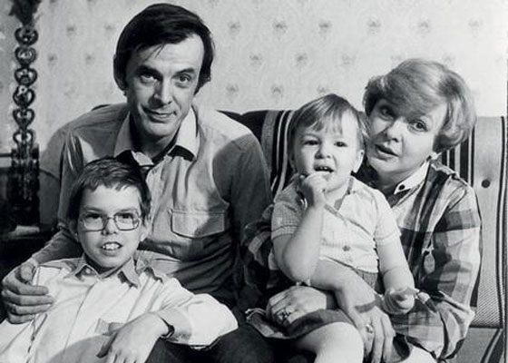 Анна Тараторкина с родителями и братом