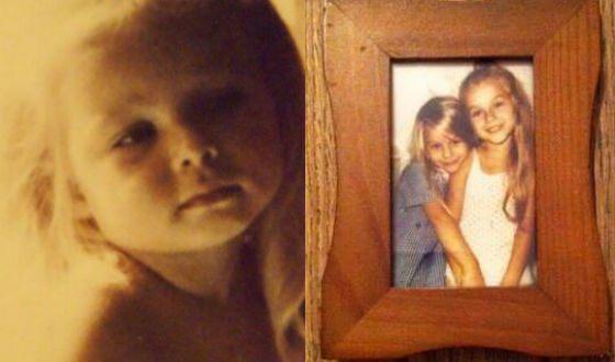 Детские фото Рины Гришиной (на фото справа – с младшей сестрой)