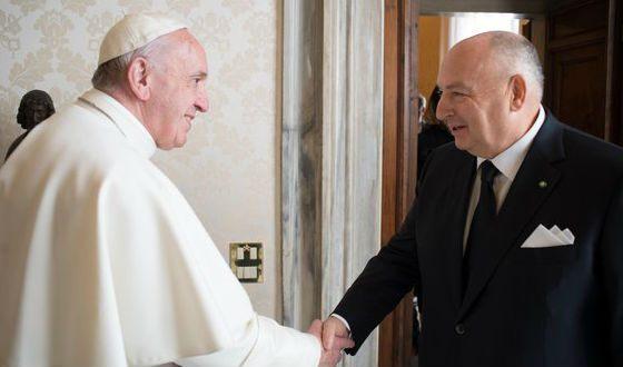 Вячеслав Кантор и Папа Римский Франциск