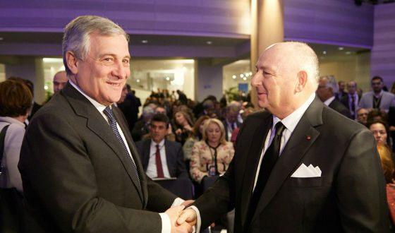 С председателем Европарламента Антонио Таяни