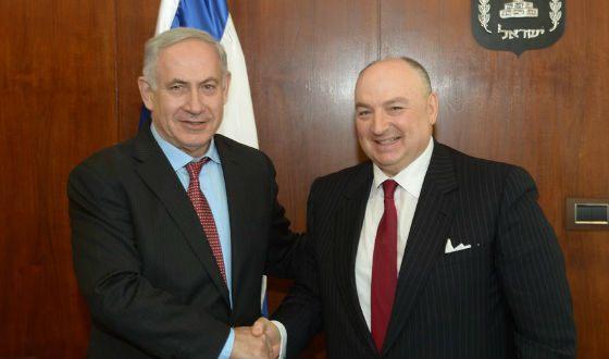 Вячеслав Кантор и премьер Израиля Биньямин Нетаньяху