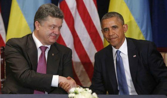 На фото: Порошенко и 44-й президент США Барак Обама