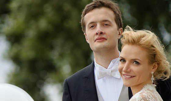 Старший сын Порошенко с женой Юлией