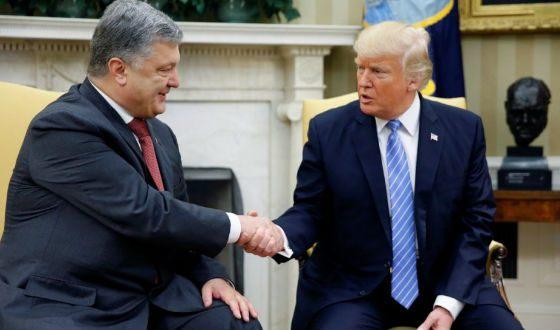 Первая встреча Трампа и Порошенко