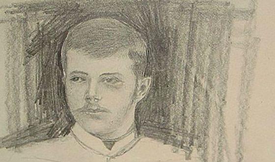 Молодой Николай II. Рисунок из дневника Матильды Кшесинской