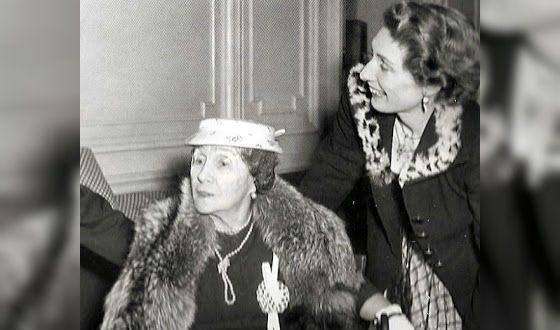 Матильда Кшесинская (слева), 1954 год.