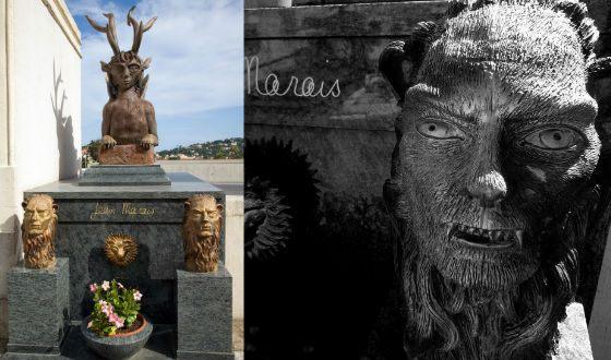 Могила Жана Маре украшена скульптурами его работы