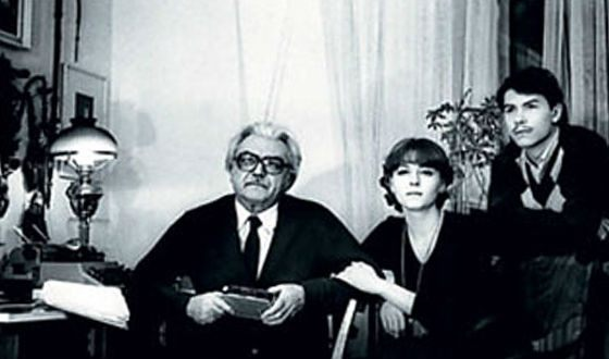 Сергей Бондарчук с детьми от третьего брака – Еленой и Федором