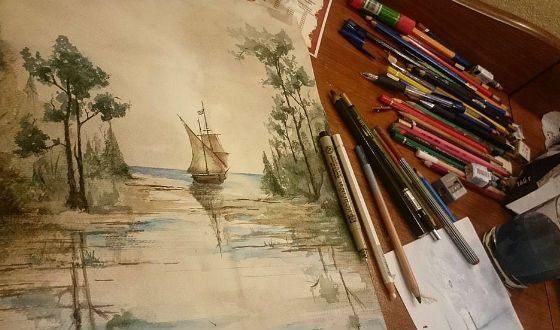 Данила Якушев отлично рисует
