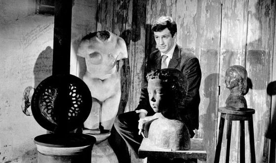 Актер в мастерской отца, скульптора Поля Бельмондо