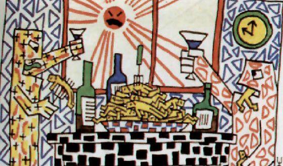 Одна из картин авторства Виктора Цоя