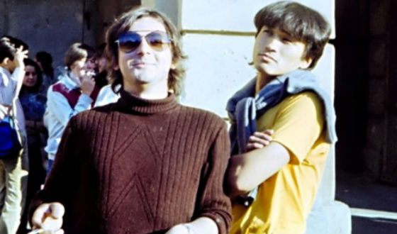 Виктор Цой и Майк Науменко (1985 год)
