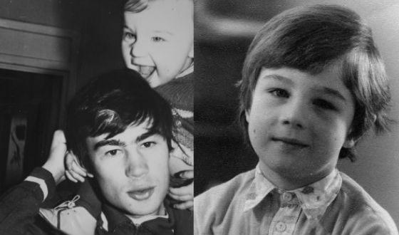 Сергей Бодров в детстве (на фото слева – с отцом)