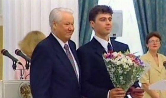 Сергей Бодров с президентом Борисом Ельциным