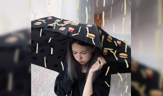 Дождь из картошки фри