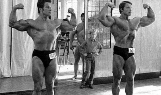 Арнольд Шварценеггер и его кумир Рег Парк