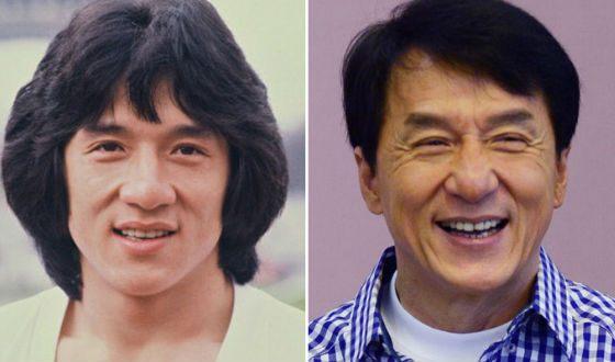 Джеки Чан в молодости и сейчас (1981 и 2015)