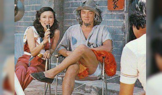 Джеки Чан на съемках фильма «Молодой мастер» (1979 год)
