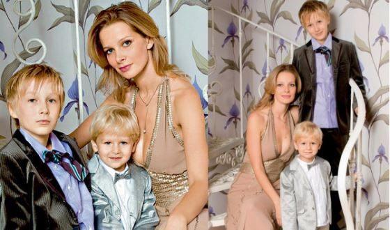 Александра Флоринская с детьми