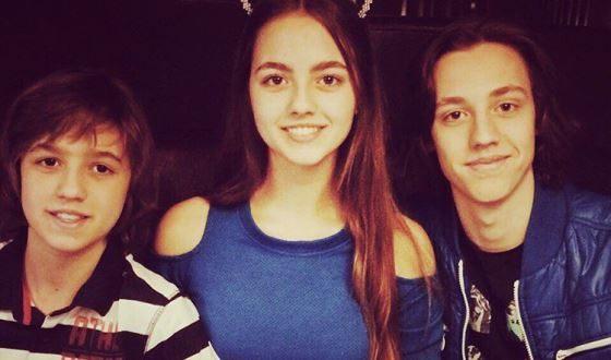 Алексей Лукин с сестрой Владой и братом Матвеем