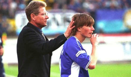 Аршавин и тренер Властимил Петржела, 2003 год