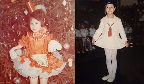 Илана Исакжанова в детстве