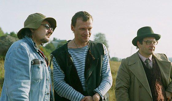 Балабанов и Серебряков на съемках «Груза 200»