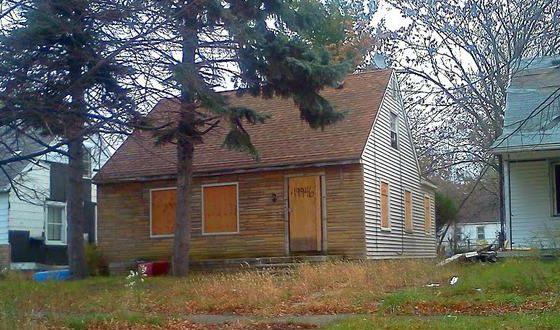 Дом в Детройте, где прошло детство Эминема