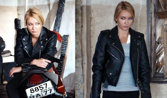 Анастасия Панина на съемках сериала «Опекун»