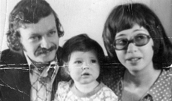 Анна Банщикова с родителями