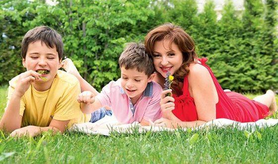 Анна Банщикова с детьми