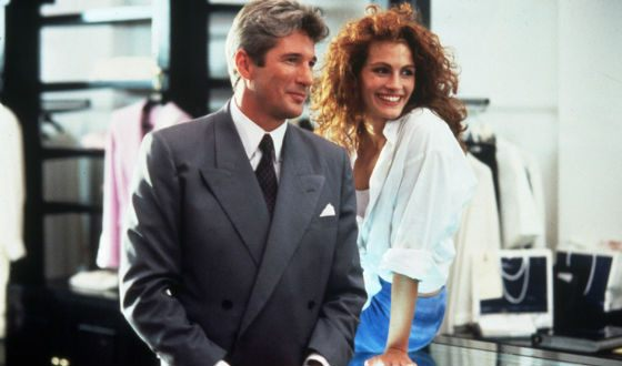 Ричард Гир и Джулия Робертс на съемках «Красотки»