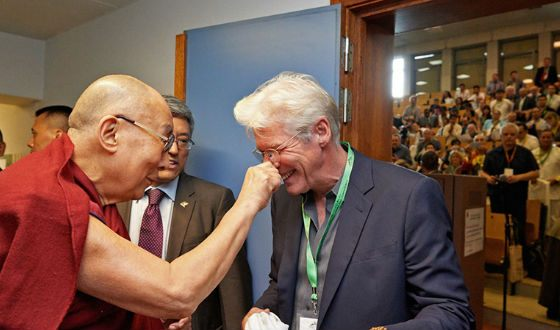 Ричард Гир знаком с Далай-Ламой