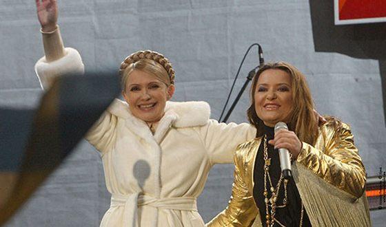 В 2009 году Наталья Могилевская поддерживала на президентских выборах Юлию Тимошенко