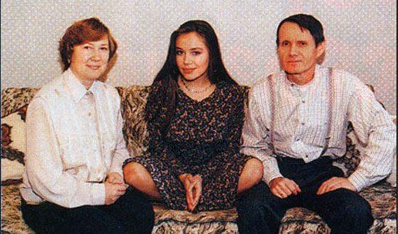 Екатерина Редникова с родителями