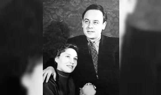 Леонид Броневой с первой женой