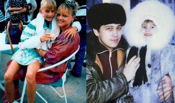 Анна Курникова с родителями