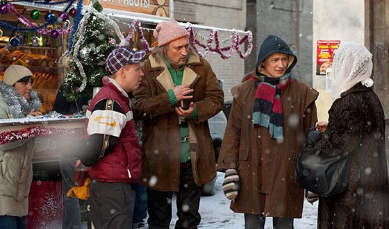 Антон Богданов на съемках фильма «Джентльмены удачи»