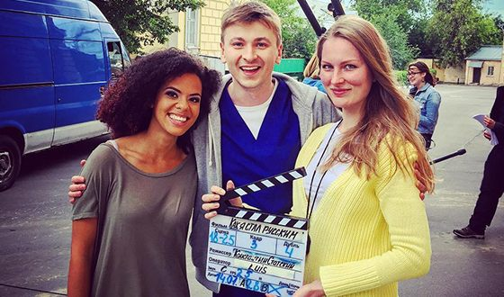 Артём Лысков на съемках сериала «Как я стал русским»
