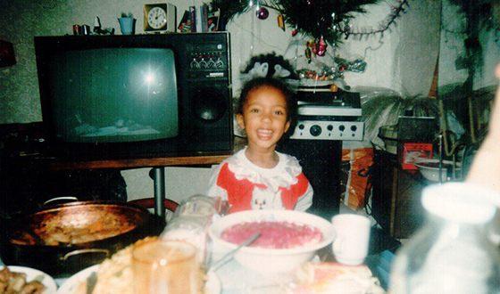 Мари Сенн в детстве
